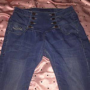 9cfd7d38300b Von Dutch Jeans Size 31.  22  100. Blue boyfriend jeans